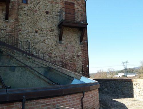 Museo del Vetro – pompa di calore in torre Medicea