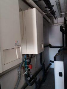 centrale termica composta da due pompe di calore e due cladaie presso la villa 2