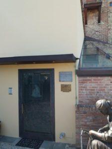 ingresso zona museale museo del vetro