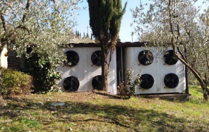 pompa di calore in villa